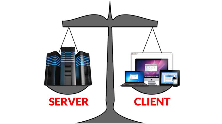 Server Side Templates vs REST API and Javascript Front-End